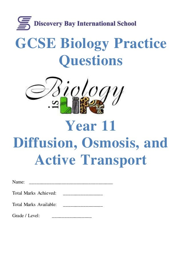 Igcse biology worksheets with answers