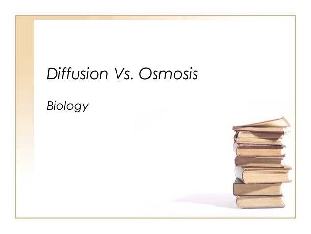 Diffusion Vs. Osmosis Biology