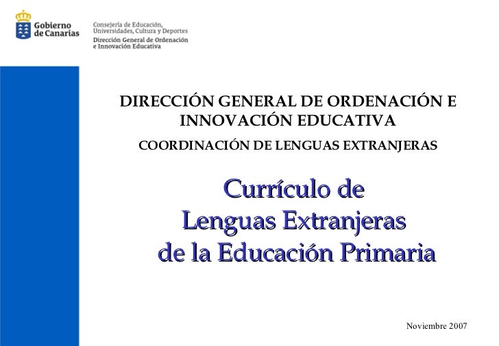 Curriculo Inglés Primaria