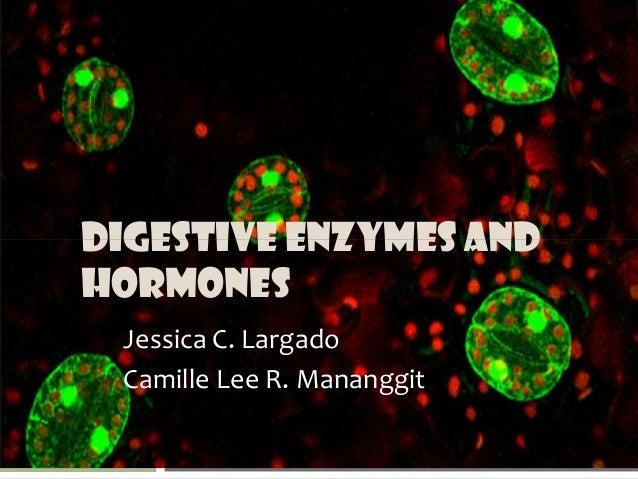 DIGESTIVE ENZYMES AND HORMONES Jessica C. Largado Camille Lee R. Mananggit
