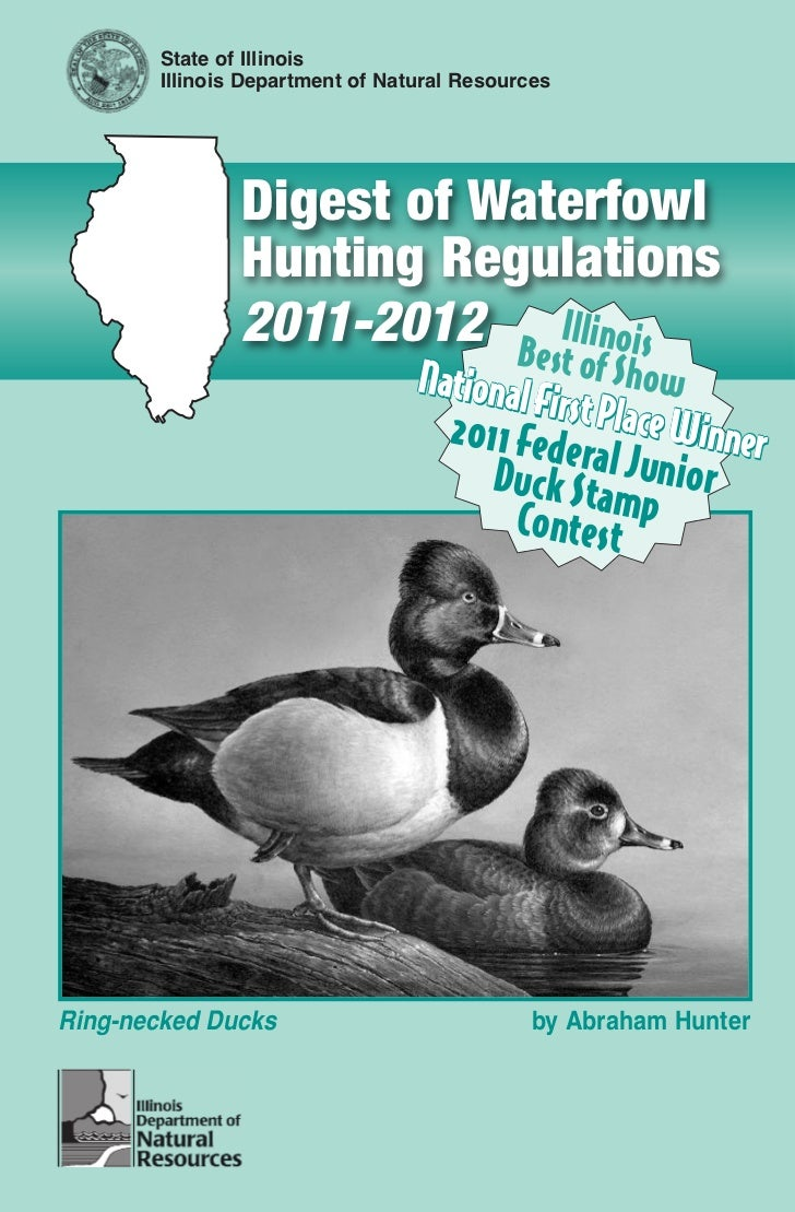 State of Illinois       Illinois Department of Natural Resources               Digest of Waterfowl               Hunting R...