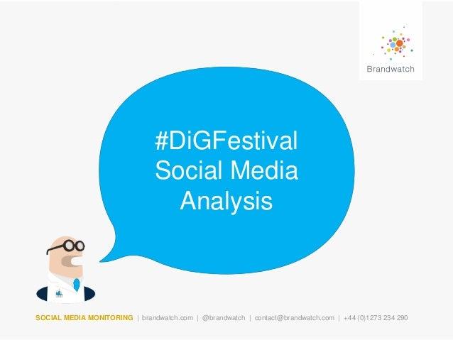#DiGFestival Social Media Analysis  SOCIAL MEDIA MONITORING | brandwatch.com | @brandwatch | contact@brandwatch.com | +44 ...