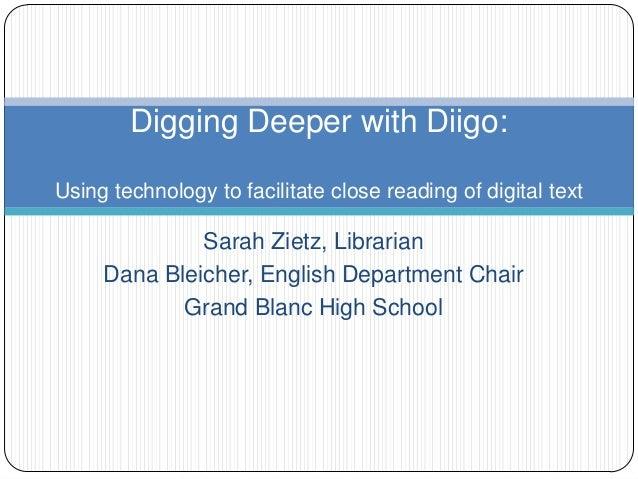Digging deeper with diigo
