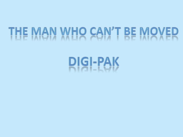 The Man Who Can't Be Moved<br />Digi-Pak<br />