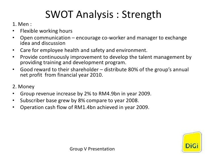 digi com berhad swot analysis This assignment is about digi telecommunications sdn bhd (digi) company's strategic analysis of its daily operations  swot analysis helps digi to seek .