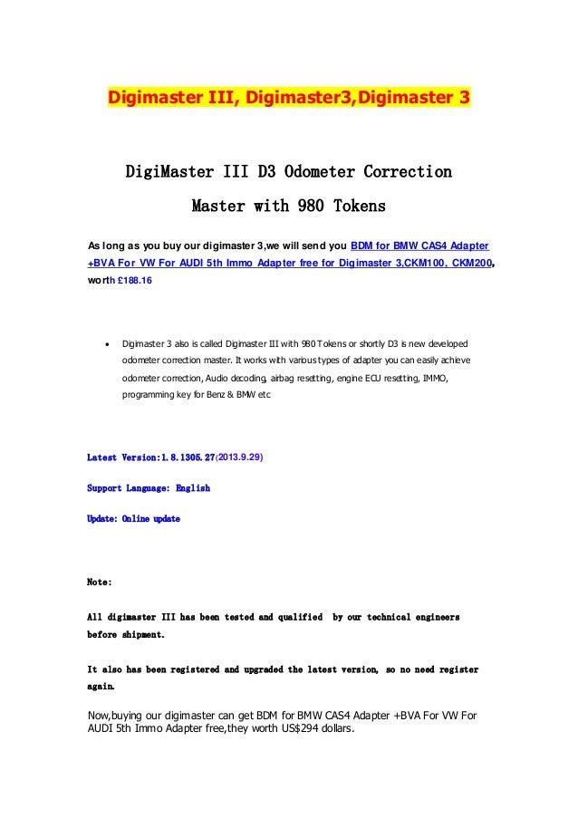Digimaster iii, digimaster3,digimaster 3