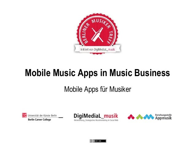 Mobile Music Apps in Music Business Mobile Apps für Musiker