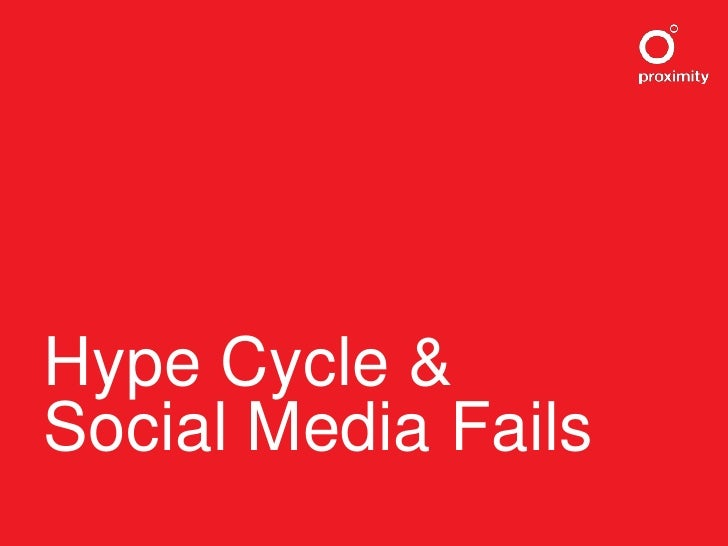 Hype Cycle & Social Media Fails<br />