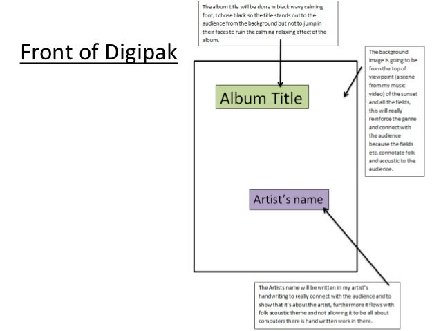 Front of Digipak