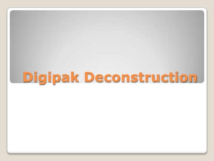 Digipak deconstruction