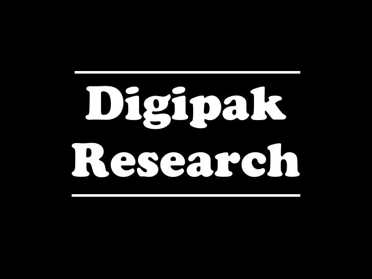 CD Digipak research
