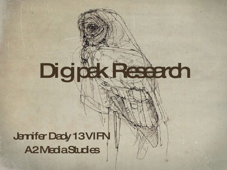 Digipak Research Jennifer Dady 13 VIFN A2 Media Studies