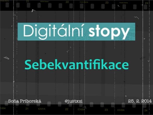 Digitální stopy: Sebekvantifikace