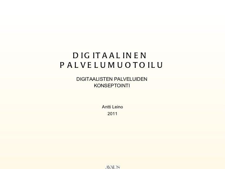 Digitaalinen palvelumuotoilu