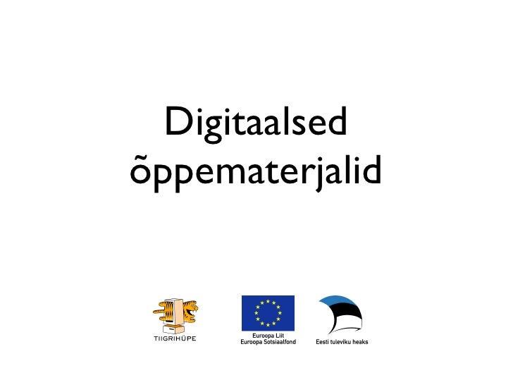 Digitaalsed õppematerjalid