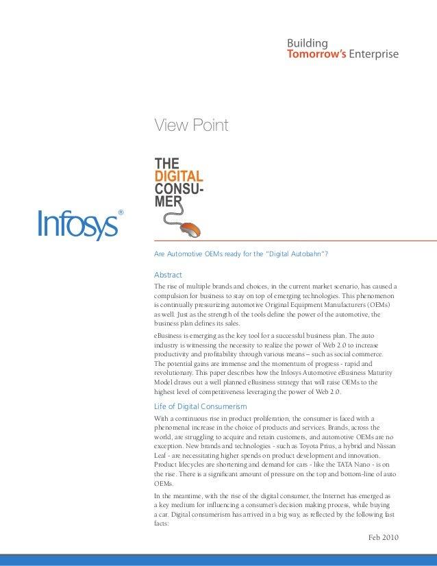 Infosys – Customer Engagement Software Solution | Automotive OEM eCommerce