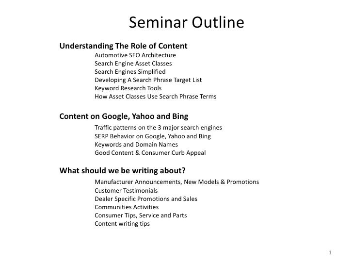 Understanding The Role of ContentAutomotive SEO Architecture Search Engine Asset ClassesSearch Engines SimplifiedDevel...