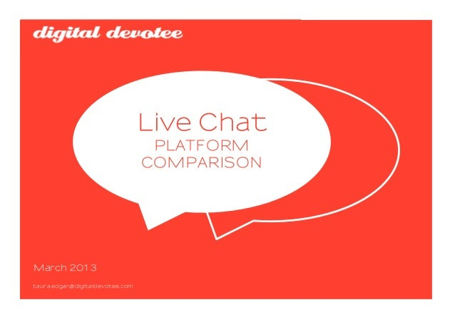 Digital Devotee Live Chat Platform Comparison | 2013 March