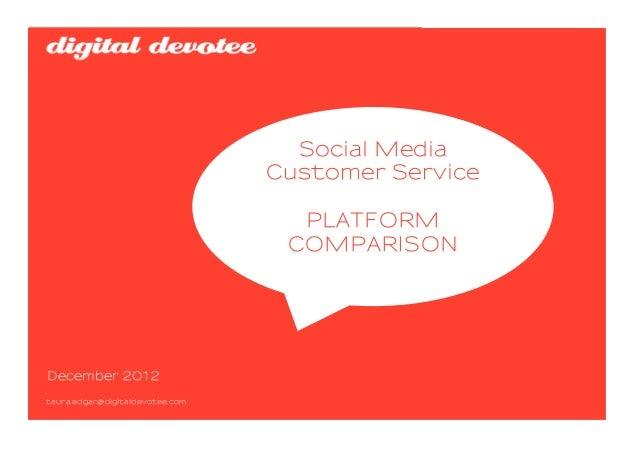 Social Media                                 Customer Service                                   PLATFORM                  ...