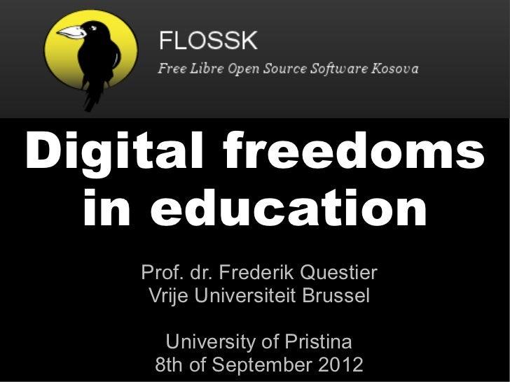 Digital freedoms in education