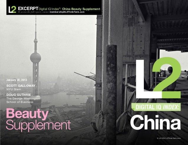 2013 Digital IQ Index: China - Beauty Supplement