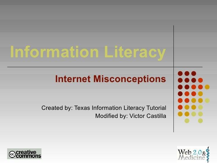 Digital Literacy: Internet Misconceptions