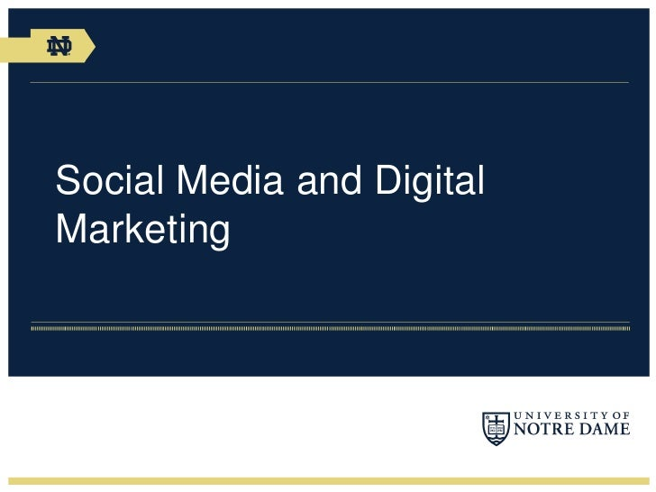 Social Media and DigitalMarketing