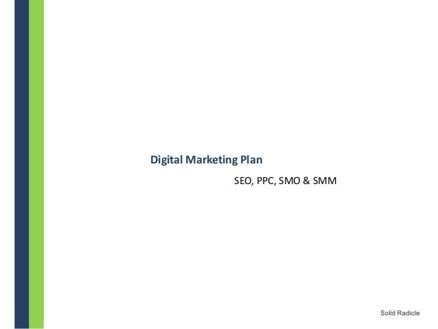 Digital Marketing Plan - 2013