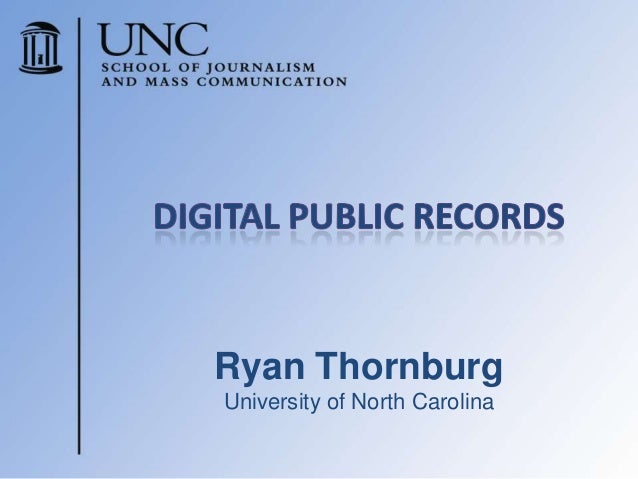 Ryan ThornburgUniversity of North Carolina