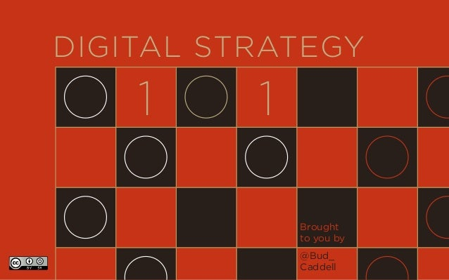 DIGITAL STRATEGY 1 1 Brought to you by @Bud_ Caddell