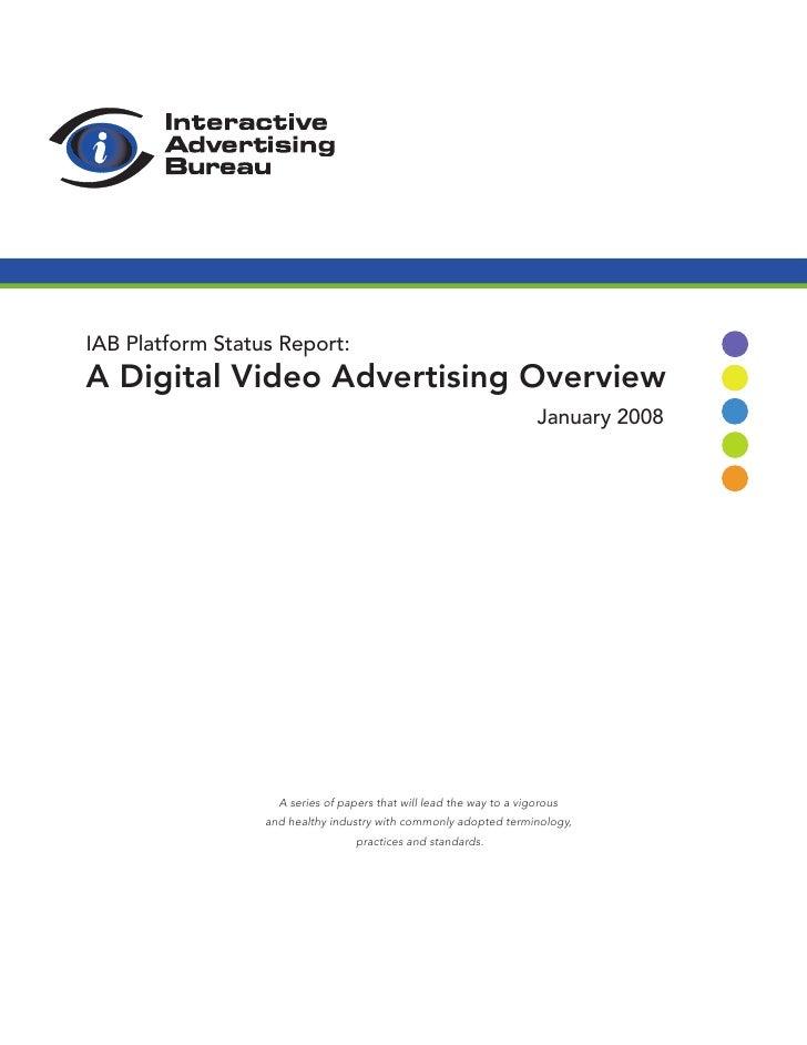 IAB Digital Video Report