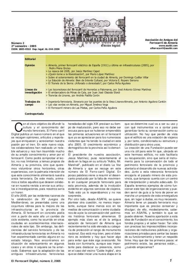 Con el claro objetivo de difundir lacultura y el conocimiento delmundo ferroviario, El Ferro-carrilDigital publica un nuev...
