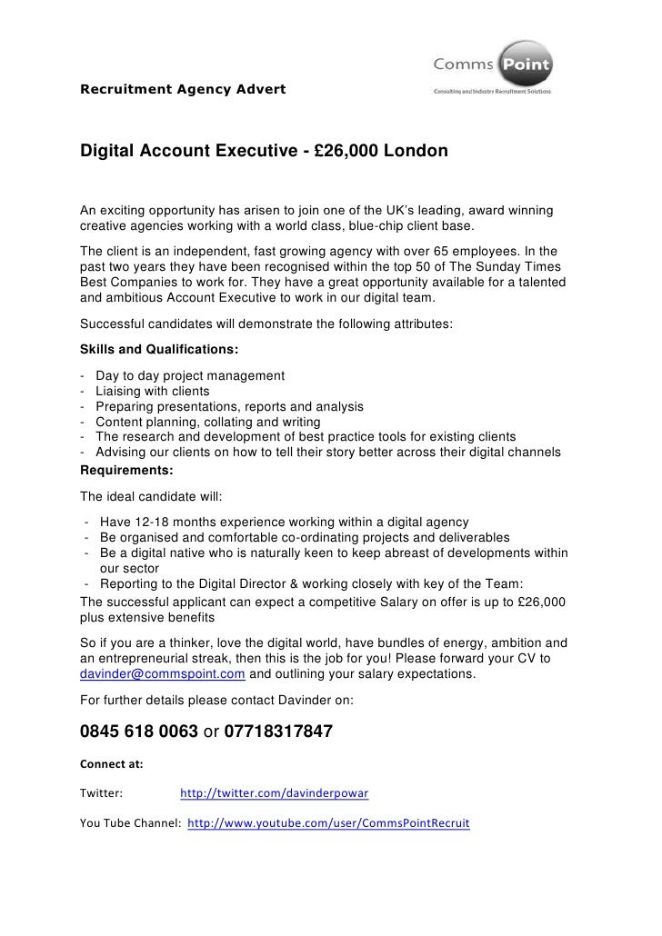 Digital Account Executive - £26,000 London<br />An exciting opportunity has arisen to join one of the UK's leading, award ...