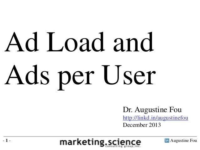Digital Ad Load Frequency per Online User by Augustine Fou Digital Forensics
