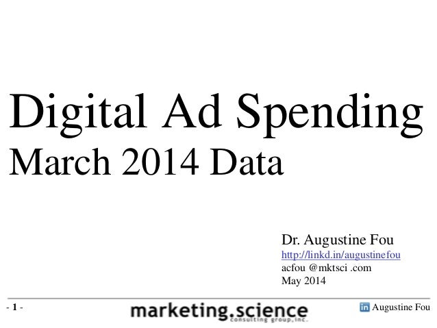 Digital Ad Spending by Industry Augustine Fou 2014