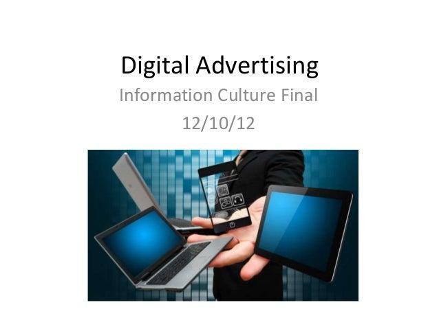 Digital advertising final