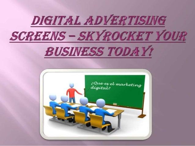 Digital Advertising Screens – Skyrocket Your Business Today!