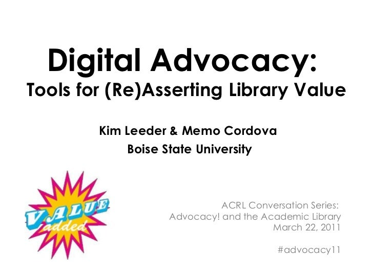 Digital Advocacy: Tools for (Re)Asserting Library Value