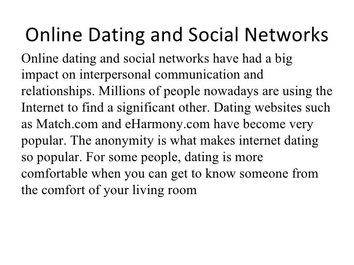 social dating networks