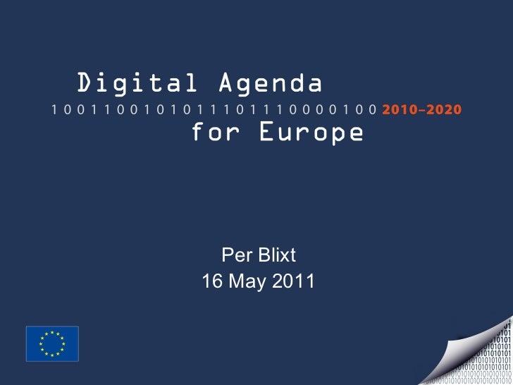Digital agenda Per Blixt