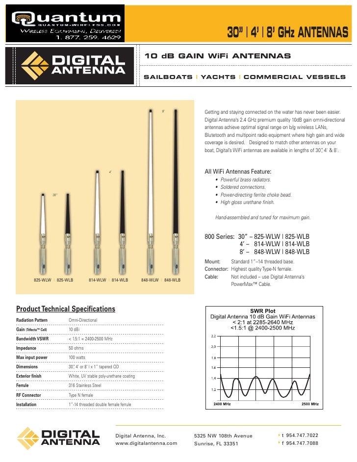 Digital Antenna PowerMax™ 4KSBR-50M Marine/RV Cellular Repeater/Amplifier