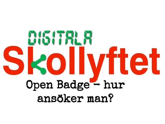 Open Badge - hur ansöker man?