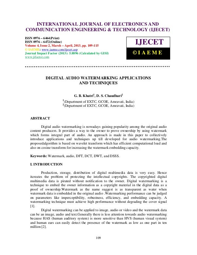 International Journal of Electronics and Communication Engineering & Technology (IJECET), ISSN        INTERNATIONAL JOURNA...