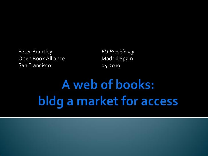Digital book markets: Building markets for access