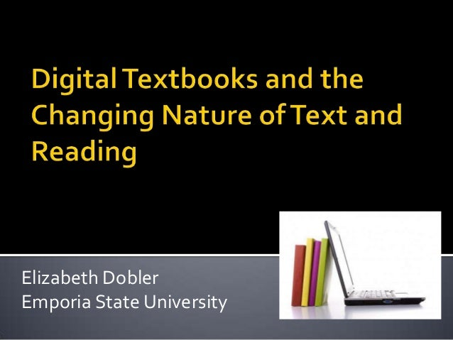 Digital books and the changing nature of text