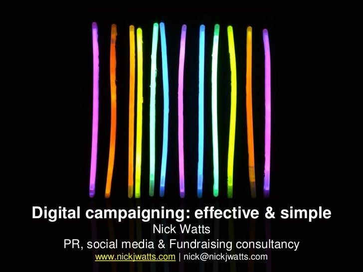 Simple digital campaigning