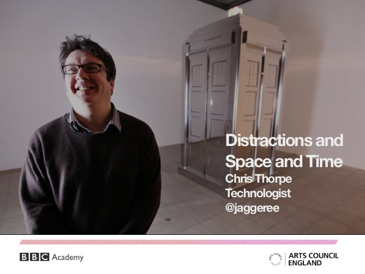 Distractions andSpace and TimeChris ThorpeTechnologist@jaggeree