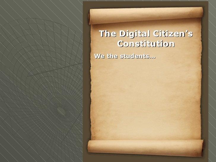 Digital citizen presentation