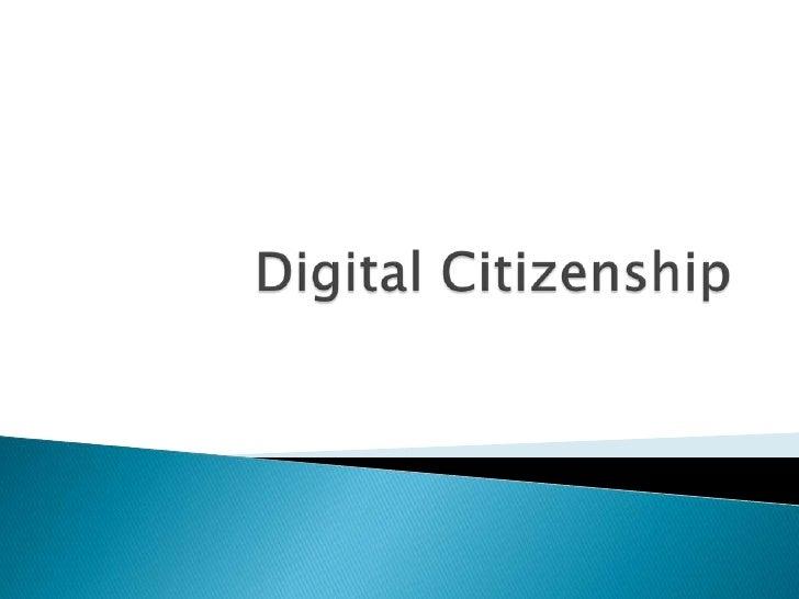 Digital Citizenship<br />
