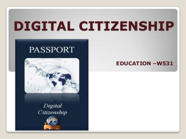 DIGITAL CITIZENSHIP EDUCATION –W531